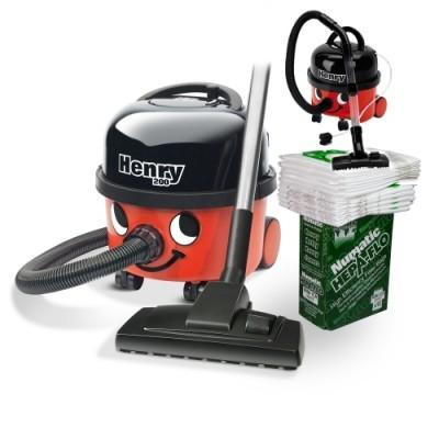 Numatic HVR200 Henry + 10 worków HEPA-FLO® + Odkurzacz zabawkowy Henry