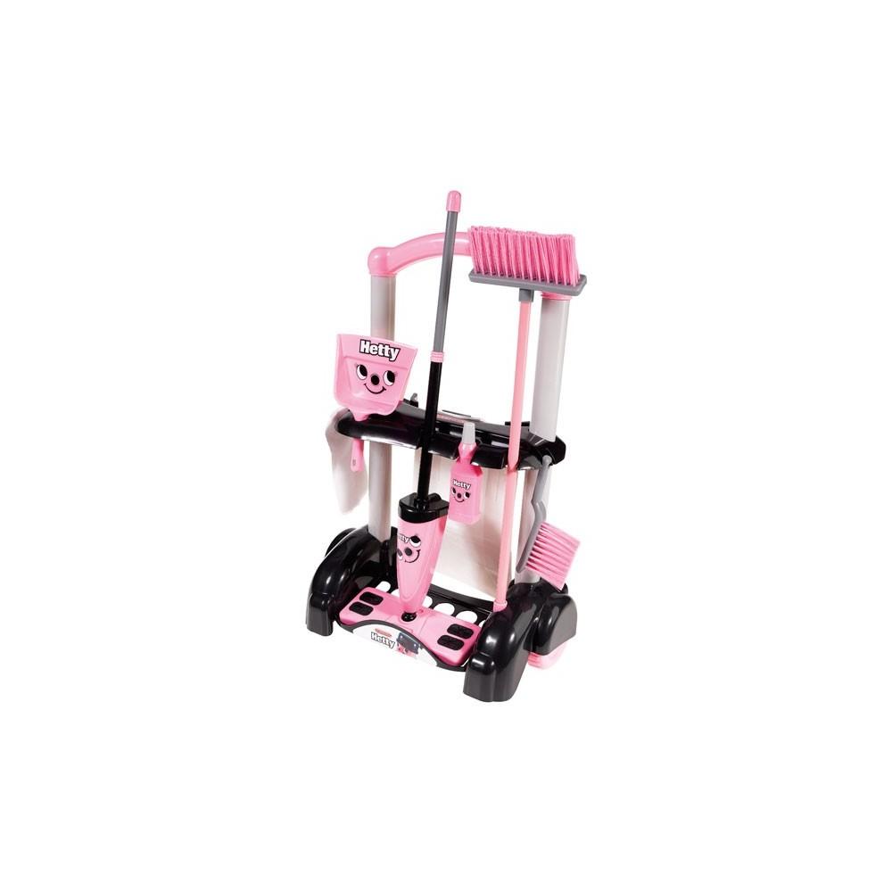 Zabawkowy wózek Hetty z akcesoriami do sprzątania