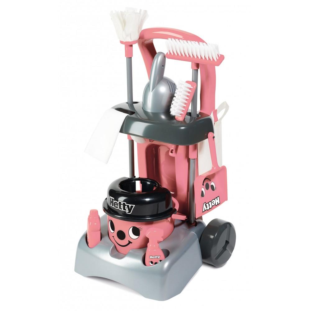 Zabawkowy wózek Hetty Deluxe z akcesoriami do sprzątania