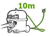 długi kabel zasilający odkurzacz CVC 370 Numatic